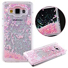 Galaxy Grand Prime Case,Creative Design Dynamic Flowing Liquid Floating Bling Sparkle Glitter Sparkle Star Love Heart Transparent Plastic Case for Samsung Galaxy Grand Prime G530 (Pink)