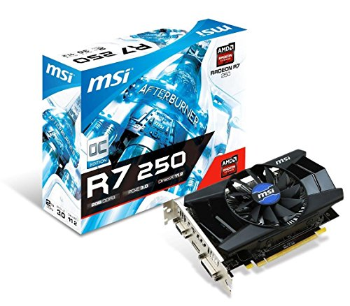 MSI R7 250 2GD3 OC 1.8 GHz 2GB DDR3 Video Graphics Card (Renewed)