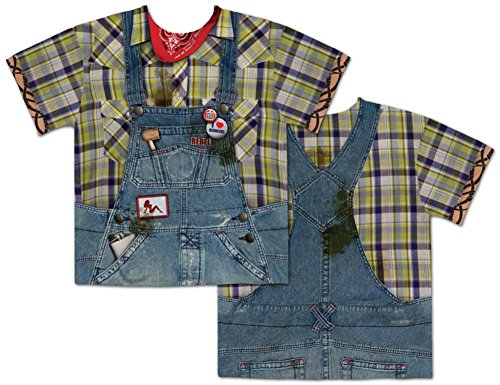 Faux Real Men's Hillbilly, Blue/Yellow, Small