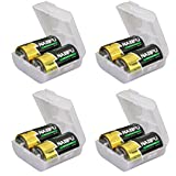 Whizzotech D Battery Storage Case/Box/Organizer Clear Color Pack of 4 (BL15)
