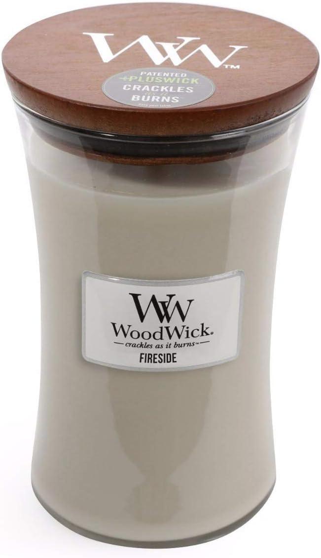 WoodWick Fireside 22oz Large Jar Candle Burns 180 Hours