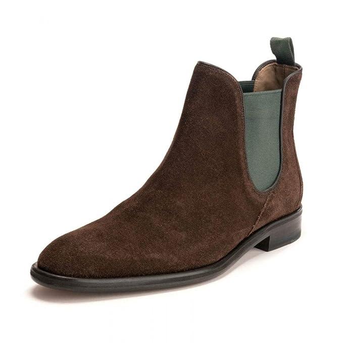 Oliver Sweeney Hombres Botas de Gamuza Chelsea Allegro Chocolate UK 11: Amazon.es: Zapatos y complementos