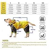 MINHUNG Waterproof Dog Raincoat Reflective Rain Dogs Safety Jacket Raincoat Dog Jumpsuits (XXL)