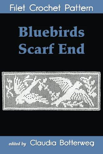 Bluebirds Scarf End Filet Crochet Pattern ()