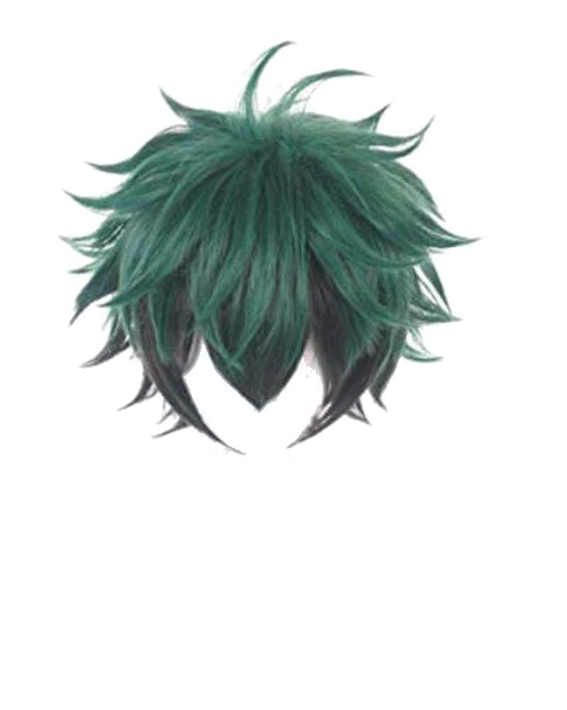 prettycos Parrucca Cosplay Anime Parrucca Izuku Midoriya Capelli Corti Verdi Parrucche Sintetiche a Pelo