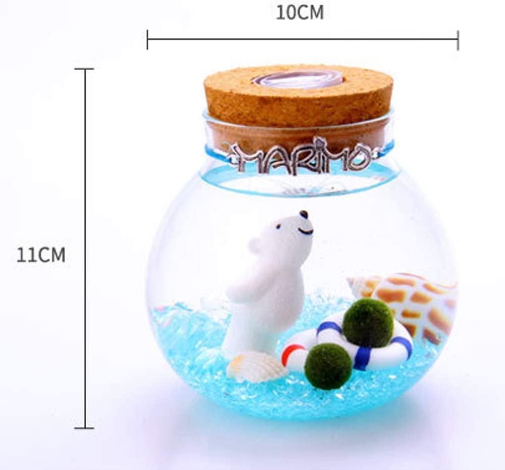 1 PETSTARCX Aegagropila Linnaei Moss Balls Glass Multi Color Aquarium Kit Micro LandscapeHouseplant HomeOfficeGlass Decorative Bottle Birthday Gift