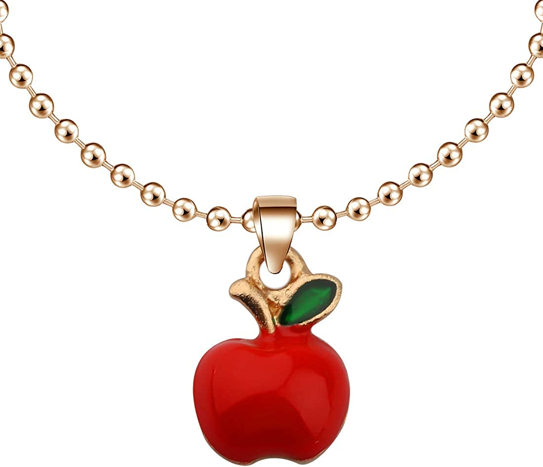CENWA Tiny Red Apple Necklace Teacher Appreciation Gift Teacher Jewelry Teacher Gift Teachers Day Gift Teacher Retirement Gift