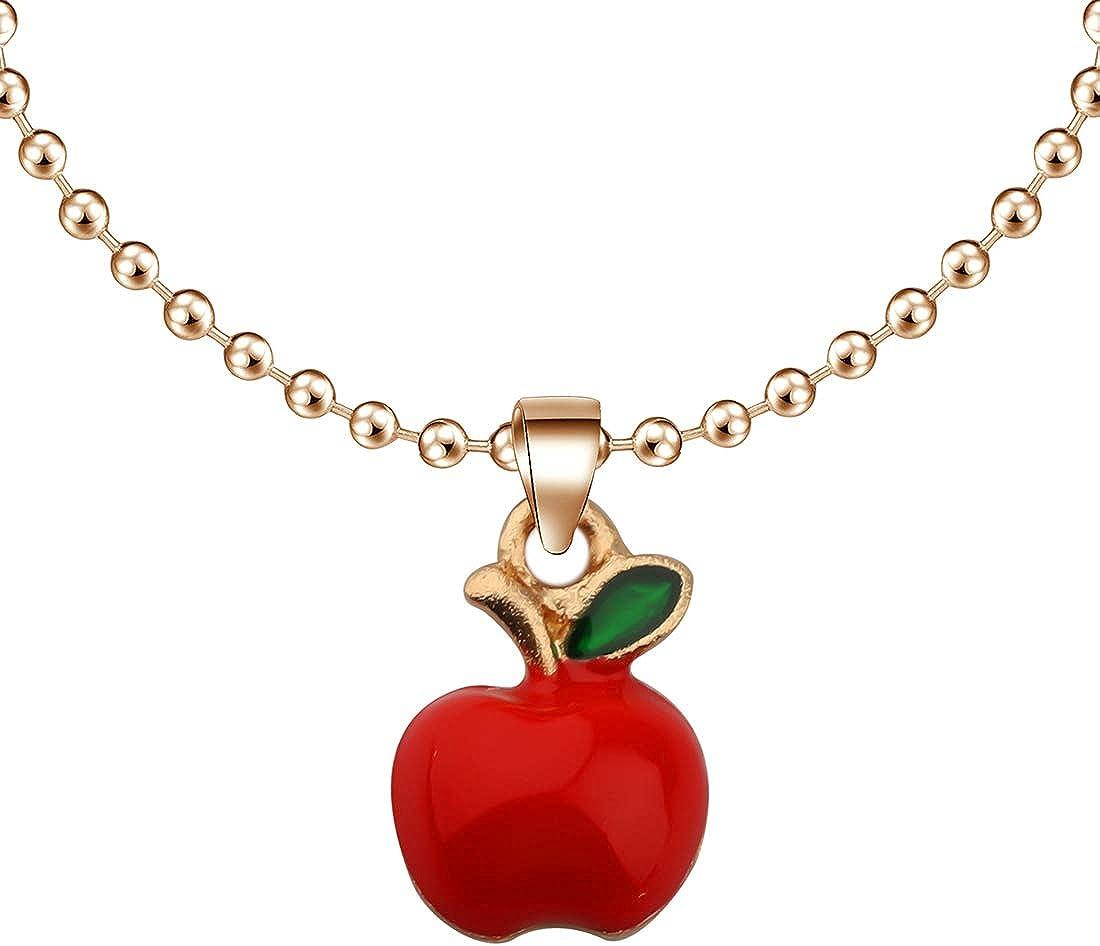CENWA Tiny Red Apple Necklace Teacher Appreciation Gift Teacher Jewelry Teacher Gift Teachers Day Gift Teacher Retirement Gift