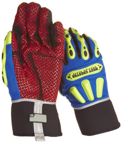 West Chester 86712B Synthetic Leather R2 Safety Rigger Glove, Long Neoprene Band Top Cuff, 10-13 64'' Length, Medium (Pack of 1 Pair) by West Chester