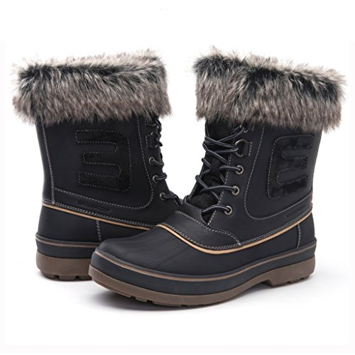 GLOBALWIN Men's Black 1722 Winter Boots 9.5M