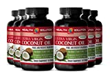 Coconut oil organic - EXTRA VIRGIN COCONUT OIL 3000 - enhance athletic performance (6 bottles)