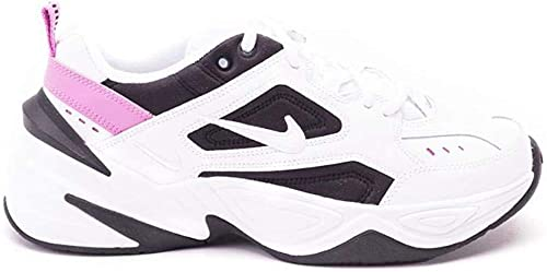 Nike W M2k Tekno Womens Ao3108-105, White/White-china Rose-black, Size 10