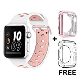 Bands for Apple Watch 38mm, Alritz Patent Silicone Sport...