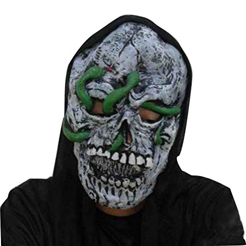 [Bigban 1 PC Terrorist Face Mask Halloween Party Latex Funny Mask (C)] (Jigsaw Costume Face Paint)