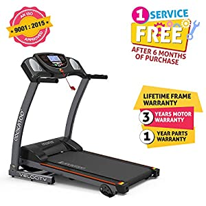 Cockatoo Velocity DC Motorized Treadmill for Home