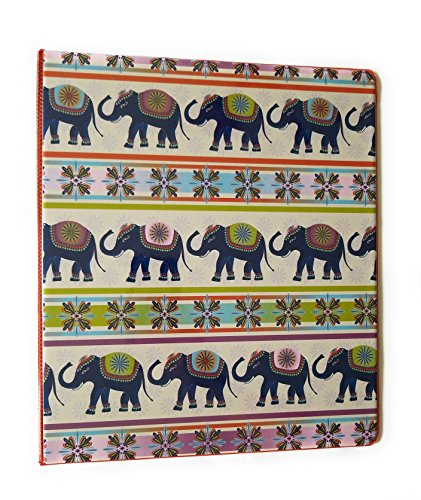 Fashion Round Ring 1 inch Binder (Elephants) by JOT