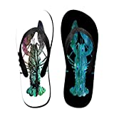 Black And White Crayfish Funny Flip Flops For Children Adults Men And Women Beach Sandals Pool Party Slippers