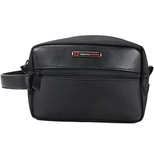Alpine Swiss Hudson Travel Toiletry Bag Shaving Dopp Kit Cas