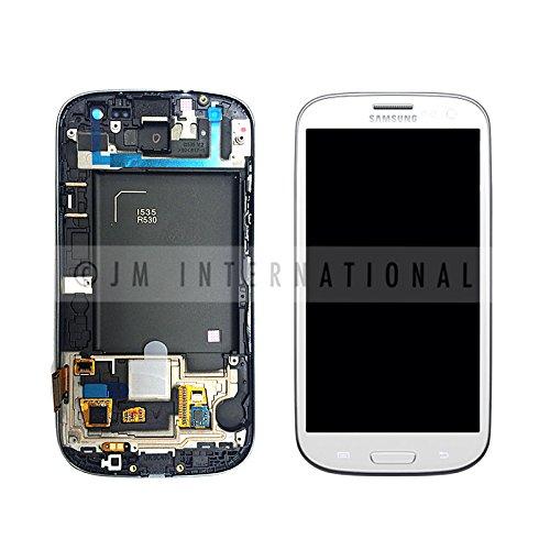 Generic OEM Samsung Galaxy S3 lll I535 R530 Verizon LCD Digitizer Frame (Marble White) (Samsung Galaxy S3 Verizon Lcd)