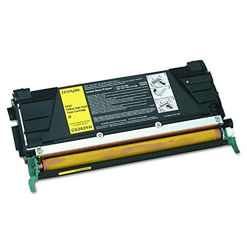 Yield Extra High C534 - Lexmark C5242YH High yield laser toner cartridge for lexmark c524/c532/c534, 5k yield, yellow