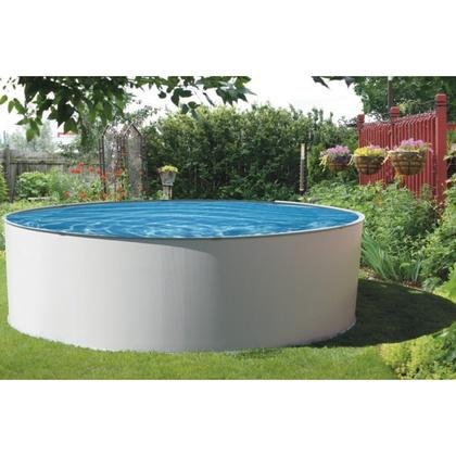 Blue Wave Presto Metal Wall Swimming Pool Package, 15-Feet Round and 52-Inch (Frame Pool Package)