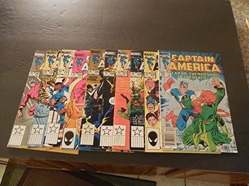 10 Iss Captain America #291-300 Mar-Dec 1984 Copper Age Marvel Comics