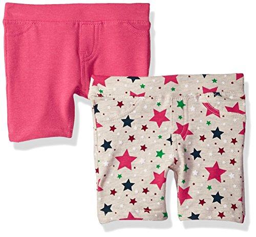 VIGOSS Girls' Big 2 Pack Bermuda Short, Stone, 7
