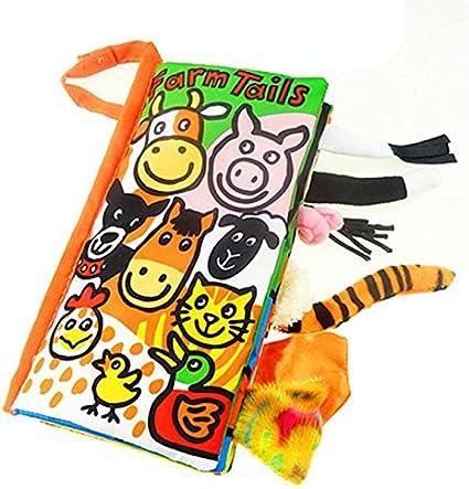 Tonsee Livre de tissu de livres de jouets de b/éb/é de tissu de queues danimal A