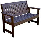 Highwood Lehigh Garden Bench, 5 Feet, Weathered Acorn