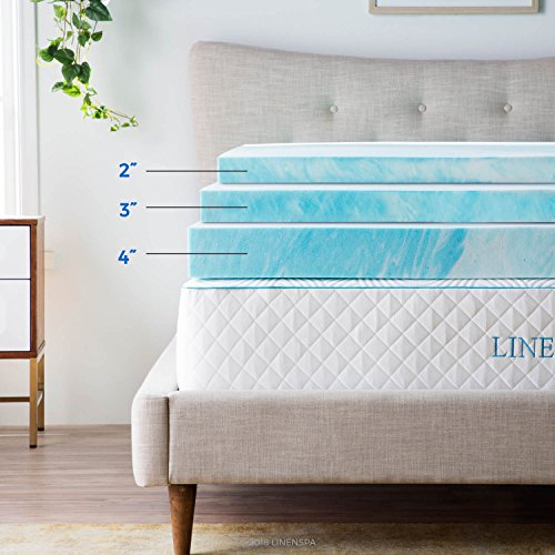 Linenspa 3 Inch Gel Swirl recollection Mattress Toppers