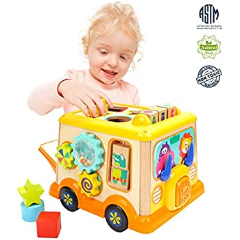 Amazon.com: TOP BRIGHT Activity Cube Toys Baby Educational ...