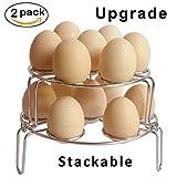 : [Upgraded Version] Egg Steamer Rack,Egg Cooker Stackable Steamer Rack Trivet for Instant Pot and Pressure Cooker Accessories