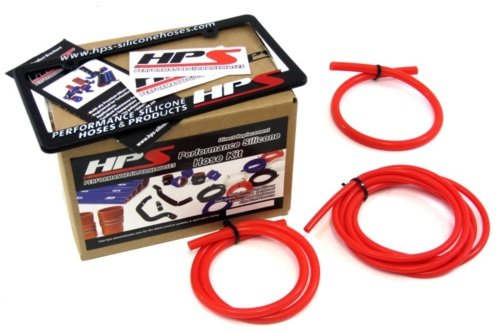 HPS Red Silicone Vacuum Hose Kit for 99-01 Subaru Impreza 2.5RS CG8 EJ25