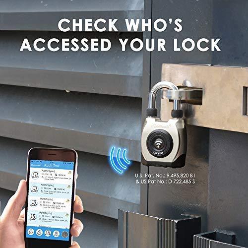 eGeeTouch Outdoor Smart Padlock 3rd Gen, Weatherproof, Bluetooth + NFC (Short Shackle) by eGeeTouch (Image #6)