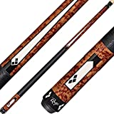 Rage RG200 Graphic Antique Burl with Black and White Tux Diamonds Cue, 19-Ounce