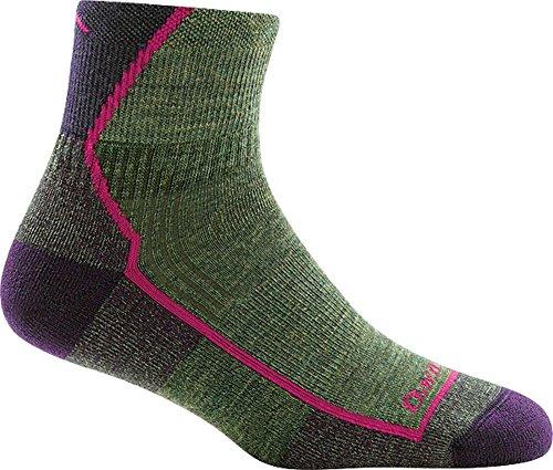 Cushion Womens Sock - Darn Tough Hiker 1/4 Cushion Sock - Women's Moss Heather Medium
