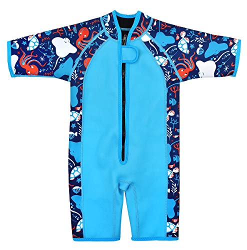 Splash About Kids Shorty Wetsuit (Under The Sea, 2-4 Years) (Best 3 2 Wetsuit 2019)