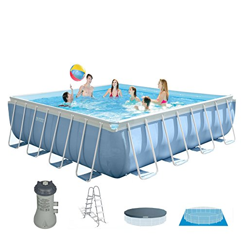 Intex Square Frame Prism Pool Set w/Filter Pump - 14 ft. x 42 in.