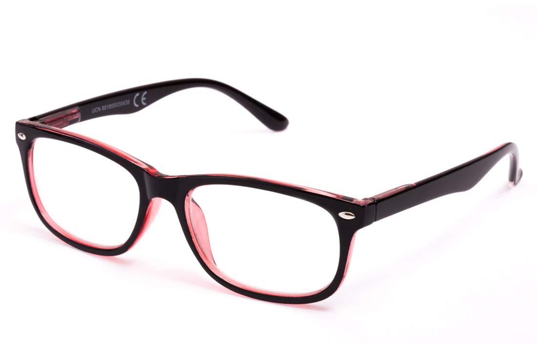 Pack de 4 Gafas de Lectura Vista Cansada Presbicia, Gafas de Hombre y Mujer Unisex con Montura de Pasta, Bisagras de Resorte, Para Leer, Ver de Cerca ...
