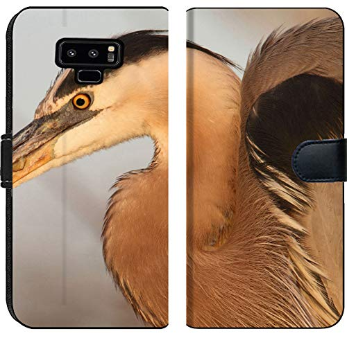Case Heron Blue - Samsung Galaxy Note 9 Flip Fabric Wallet Case Great Blue Heron Ardea Herodias Standing in a Marsh Image 37149106 Customized Tablemats