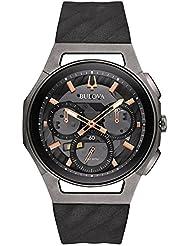 Bulova Mens 44mm CURV Collection Dark Gray Chronograph Watch