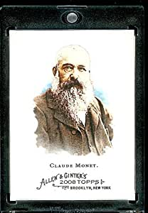 2008 Topps Allen and Ginter # 176 Claude Monet ( Artist / Painter ) MLB Baseball Card in Protective Display Case!