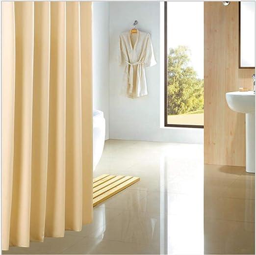 Cortina De Ducha Jacquard Hotel Impermeable Moho Engrosamiento Baño Ducha Cortinas Cortina WC Mampara Cortina,150X200cm: Amazon.es: Hogar