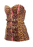 Switchblade Stiletto LEOPARD ZIPPER BUCKLE CORSET- Medium