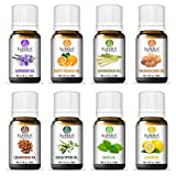 Sunira Essential Oil Set - Top 08, Therapeutic Grade, 100% Pure Essential Oils (Lavender, Basil, Lemon, Eucalyptus, Frankincense, Lemongrass,Cedar wood & Orange)