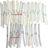 SMD 0805 Resistor Kit,Ltvystore SMD Chip Fixed Resistor Assortment Set 0805 1% 1/8W 0.125W O Ohm - 10M Ohm Resistors Assorted, 50 Value 1500PCS Arduino DIY Resistor Sample Kit