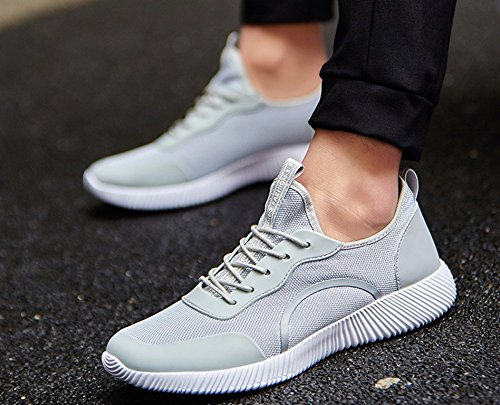 Men's amp; Sports Shoes by Running Gray Women's JiYe Solid Sneaker Fashion Color Bq5wdHn