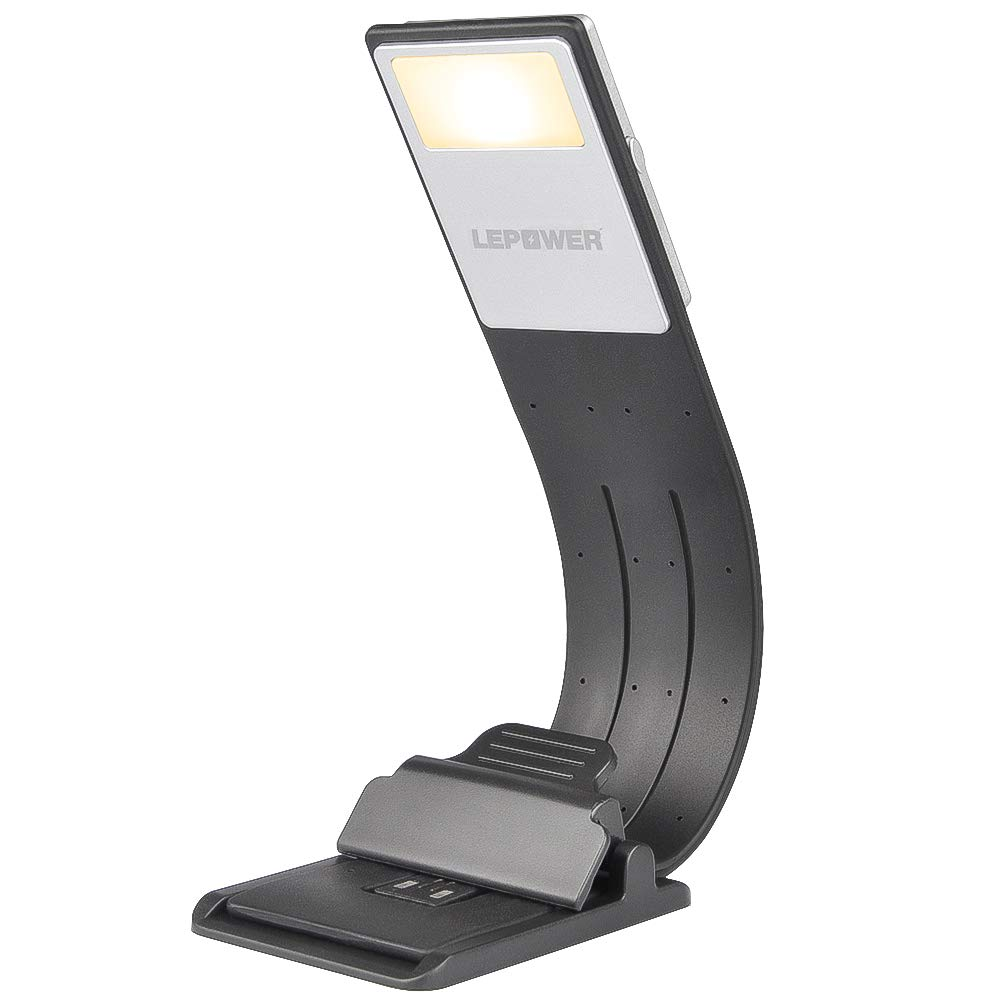 LEPOWER 2700K Warm LED Bookmark Light, 4-Level Brightness, Flexible& Portable Book Lights, Built-in USB Cable Rechargeable Reading Lights, Eye Protection, Perfect for Kindle, IPad & Bookworms Kids