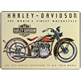 "Harley-Davidson® Tin Sign Collection Featuring The ""1933 74 Big Twin Model."" 2010011"