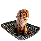 LennyPads Washable Dog and Puppy Pee Pads, 2 Pack – Ultra Absorbent, Leak-Proof and Reusable Pet Pee Pads, Ideal for Training, Housebreaking, Incontinence and Travel – Picnic Plaid, 23 x 27 Large For Sale